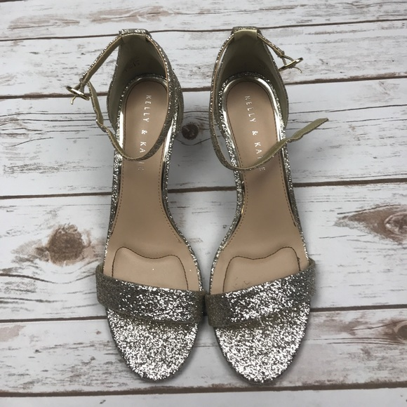 5460d850bcc1 Kelly   Katie Shoes - Kelly   Katie Kirstie Gold Glitter Pumps ...